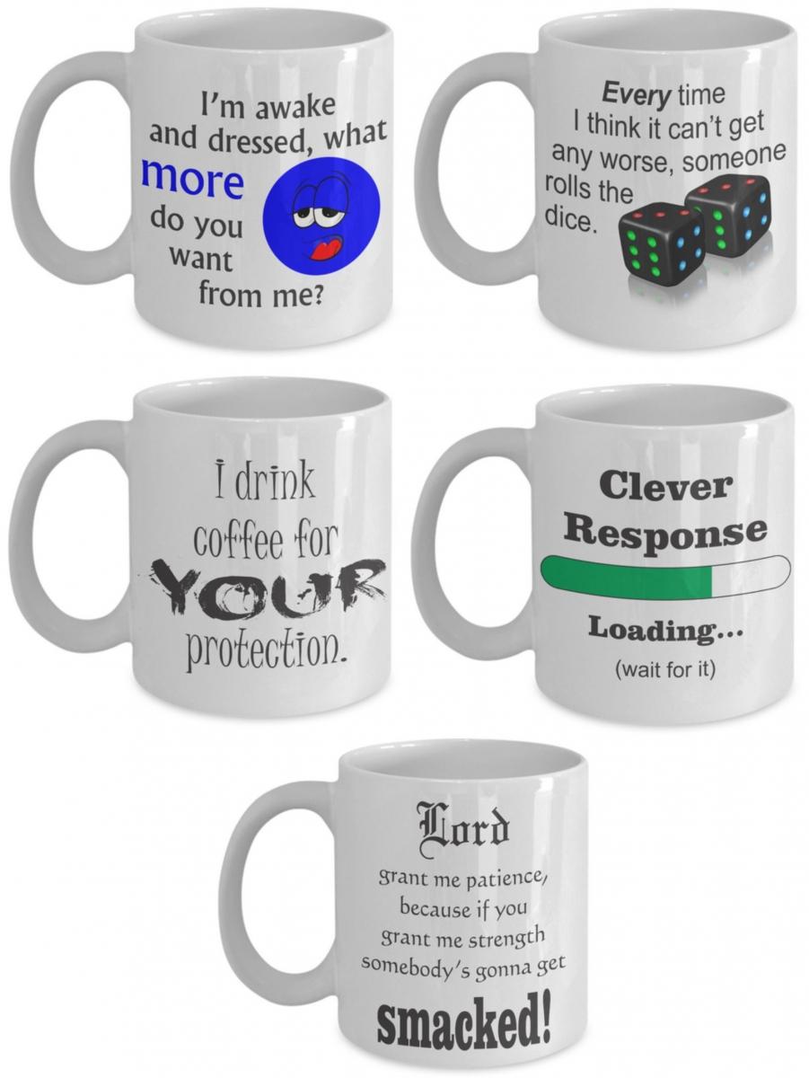 Five mugs image