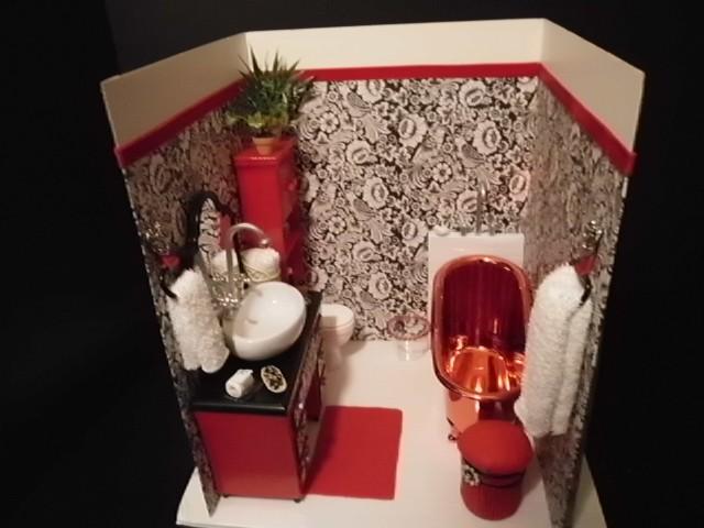 Photo of first bathroom diorama