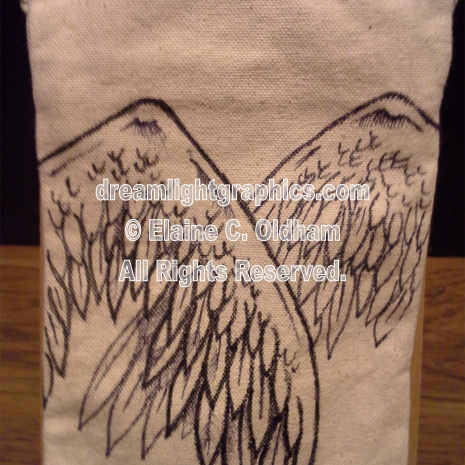 Angel Mine (back) © 2014 Elaine C. Oldham, all rights reserved.