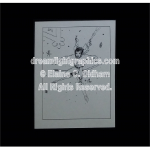Snow Surfing greeting card © 1992 by Elaine C. Oldham, all rights reserved.