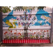 The Magic Garden mini print of mural by Elaine C. Oldham
