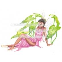 Fairy in Calladium (c) 2000 Elaine C. Oldham, all rights reserved)