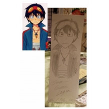 Bookmark Sketch of Simon, Gurren Lagann