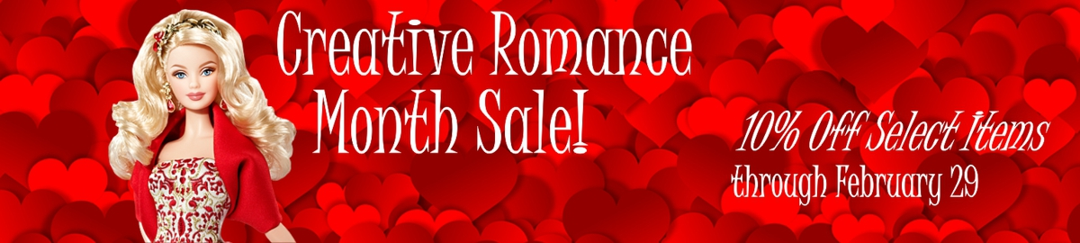 Creative Romance Month Sale banner