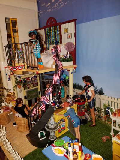 2021 Image of personal 4th of July diorama, a work in progress